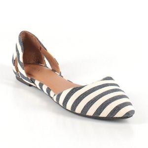 Merona Striped Dorsay Flats Size Sz 5